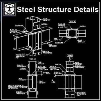 Free Steel Structure Details 5 - Autocad Design Pro-Autocad