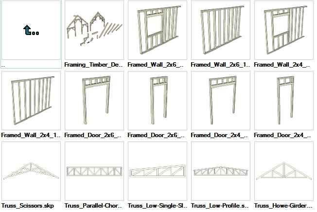 Sketchup Wood Framing 3D models download - Autocad Design Pro