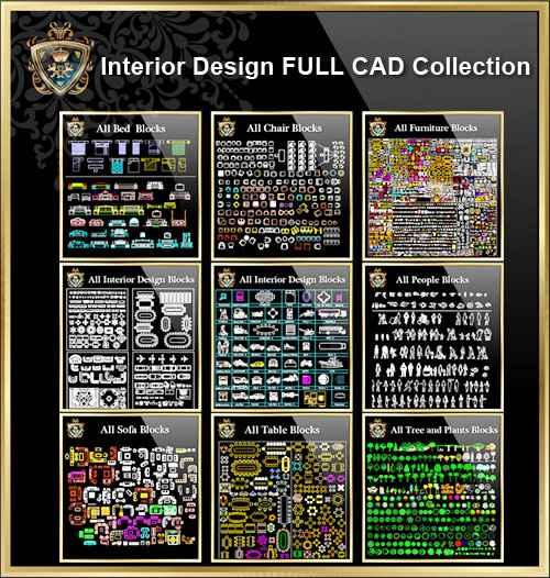 【Interior Design Full CAD Blocks Collections】(Best Collections!!) - Autocad  Design Pro-Autocad Blocks,Drawings Download