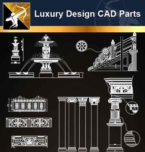 ★【Architecture Decoration Design Element CAD Blocks V 3】@Autocad Decoration  Blocks,Drawings,CAD Details,Elevation - Autocad Design Pro-Autocad