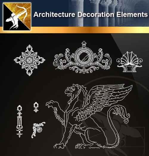 ☆【 Free Architecture Decoration Elements V 7】@Autocad
