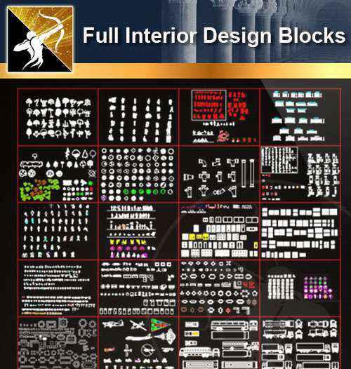 ★【 Full Interior Design Autocad Blocks Bundle V 2】@All Autocad Blocks  Collection - Autocad Design Pro-Autocad Blocks,Drawings Download