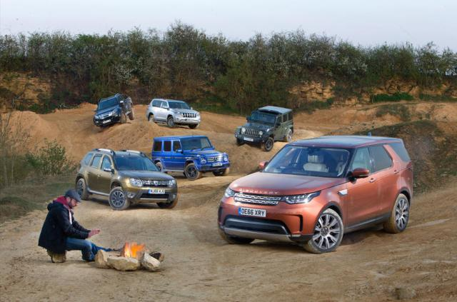 Land Rover Discovery, Mercedes G-Wagen, Dacia Duster