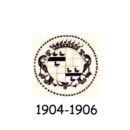 Cadillac logo 1904-1906