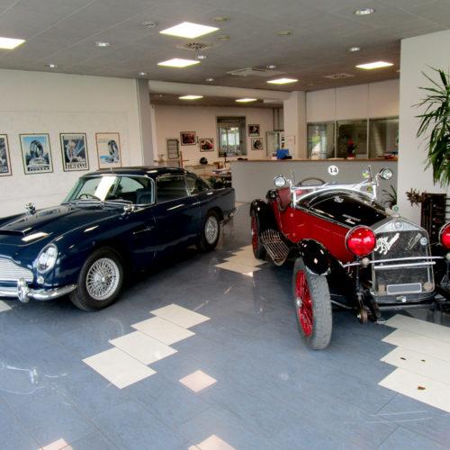 Aston Martin DB5 e Alfa Romeo 6C 1750 GSS