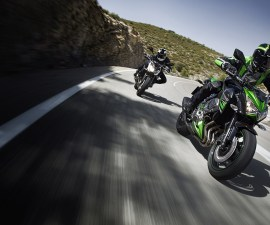 2014 Kawasaki Z800 in action