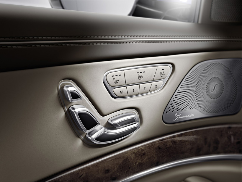 Seat adjustment options with standard memory settings. Also notice the Burmester surround sound speaker shown here.  (image courtesy www.urdesign.it)