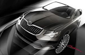 2014 Skoda Superb facelift teaser image