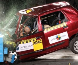 Alto K10 without Airbag frontal crash test