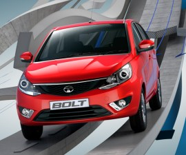 2014 Tata Bolt in red colour front