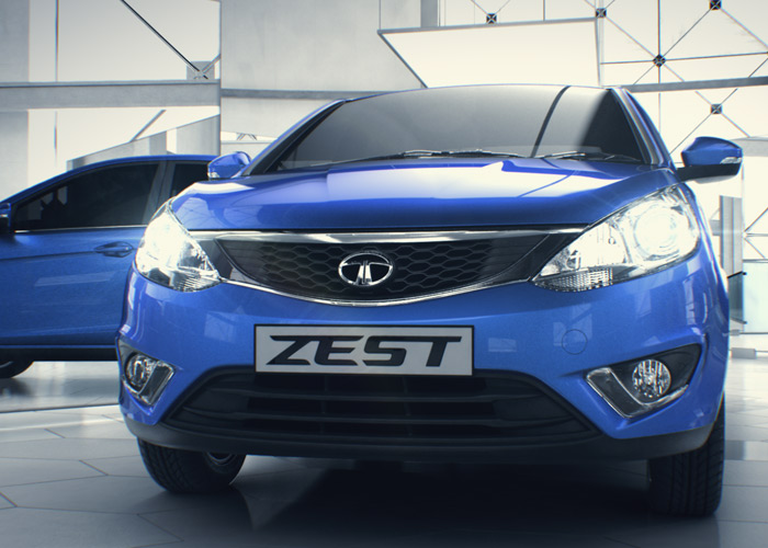 2014 Tata Zest in blue colour front