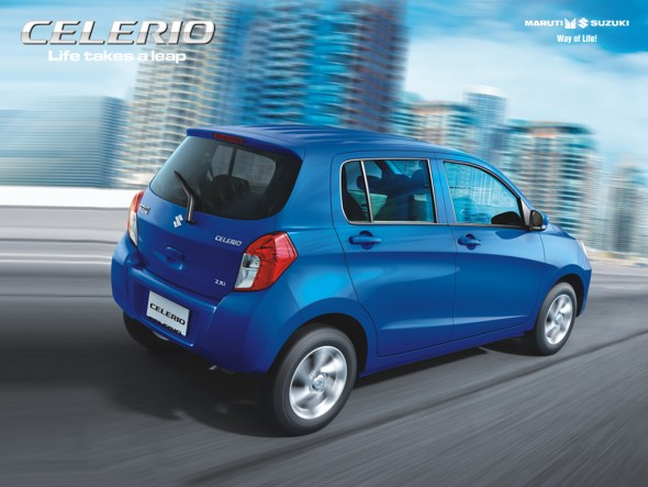 Maruti Suzuki Celerio rear three quarters