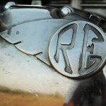 Royal Enfield Continental GT RE badge on engine