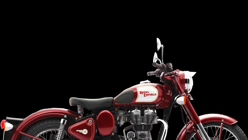 Royal Enfield Classic 350 royal maroon colour side