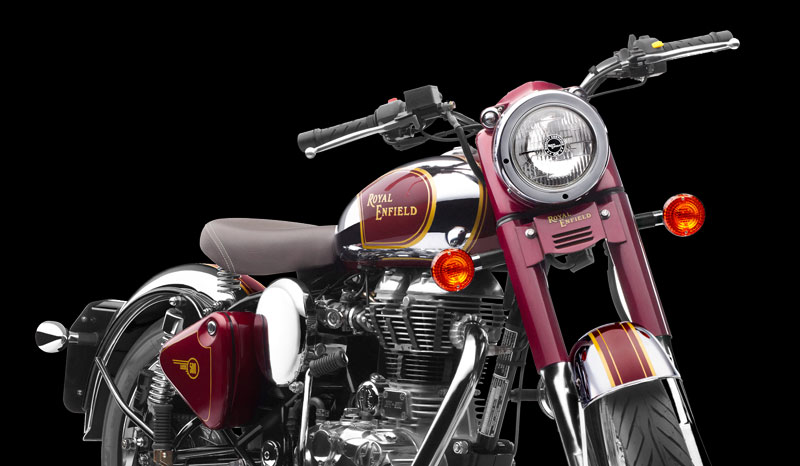 Royal Enfield Classic 500 Chrome colour front