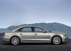 2014 Audi A8L side profile