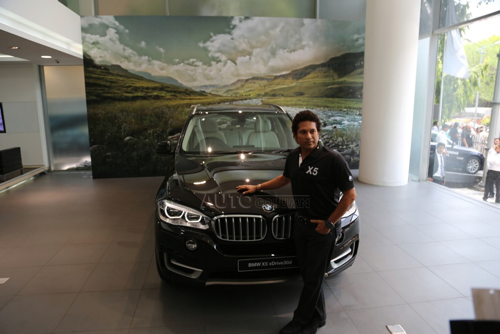 2014 BMW X5 with Master Blaster Sachin Tendulkar