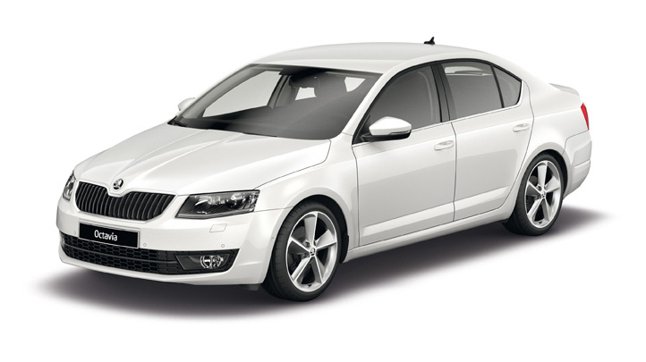 2014 Skoda Octavia in white
