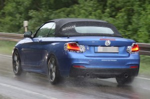 2015 BMW 2 series cabriolet rear three quarters