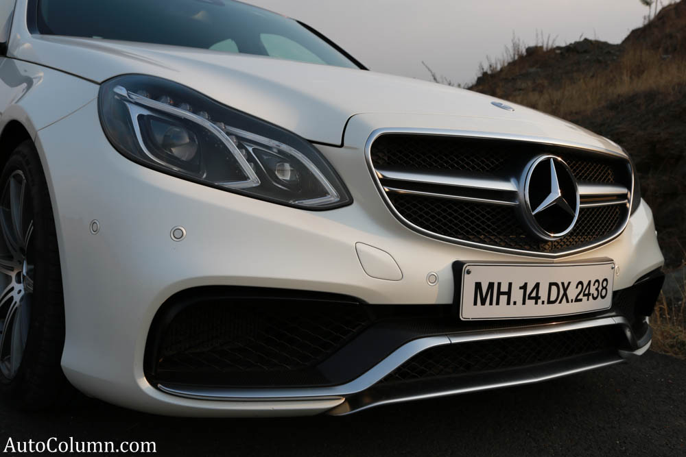 2014 Mercedes Benz E63 AMG sedan front bumper