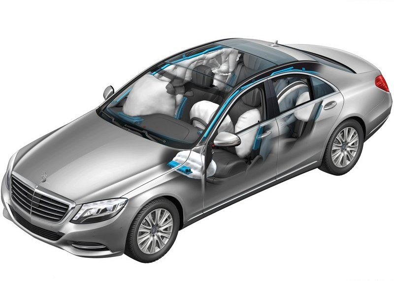 2014 Mercedes Benz S class airbags