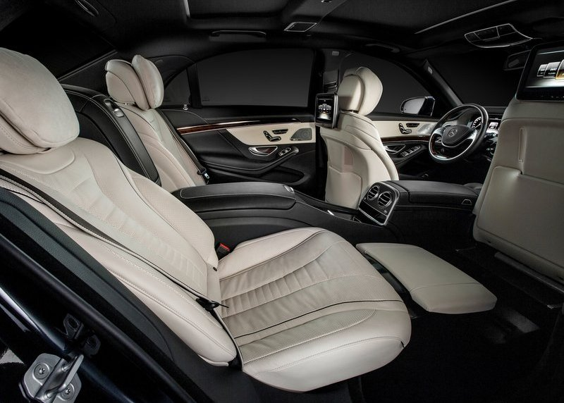2014 Mercedes Benz S class rear seats