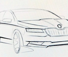 2016 Skoda Superb sketch