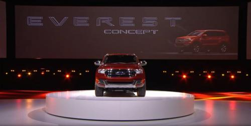 The new design is very close to the Ford Everest concept unveiled in Australia