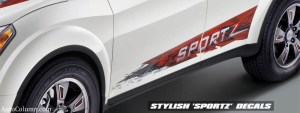 2014 Mahindra XUV 500 sportz edition door graphics