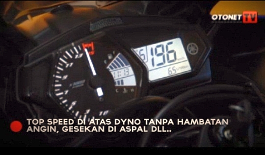 2014 Yamaha R25 doing 196kmph on Dyno Run