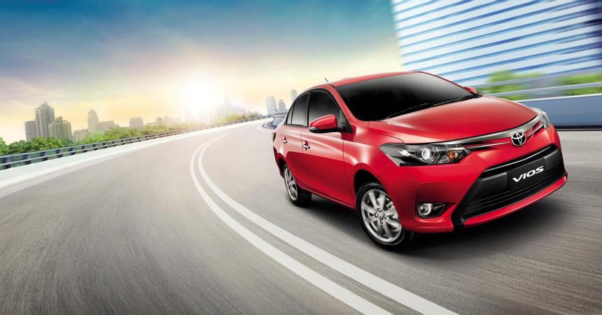 2014 Toyota Vios front three quarters in motion