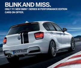 BMW 1 series M performance edition white rear