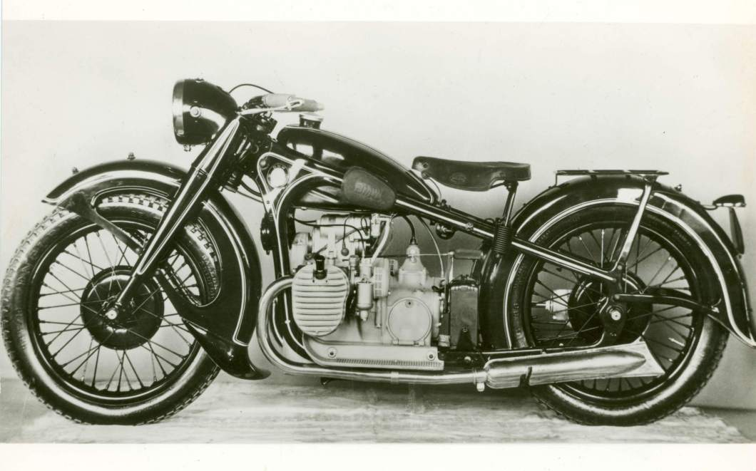 The BMW R12 was the first motorcycle to feature telescopic forks