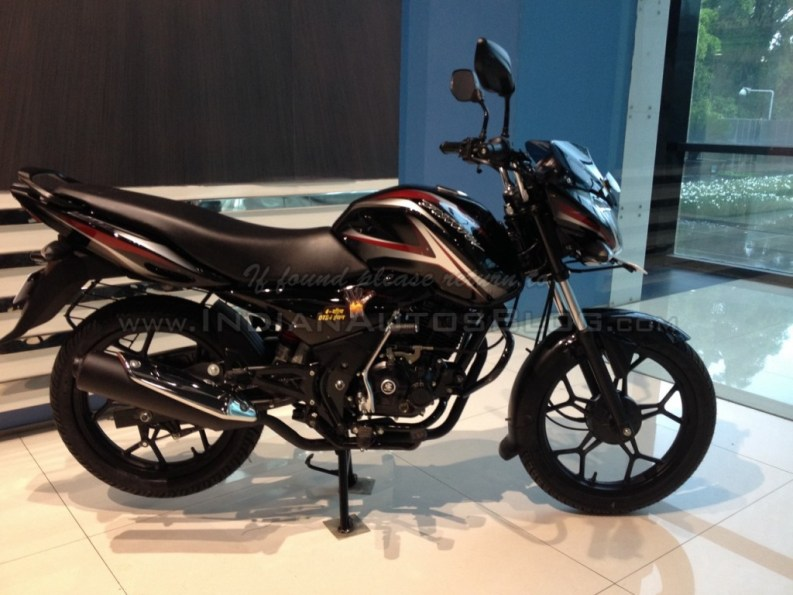 2014 Bajaj Discover 150S side profile