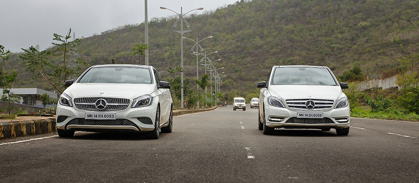 2014 Mercedes-Benz A class and B Class edition 1 front