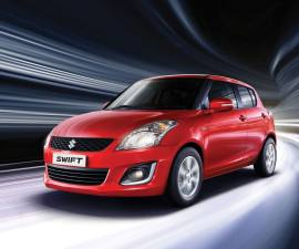 2014 Maruti Suzuki Swift facelift front three quarters