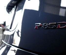 Tesla Model S P85D Badge