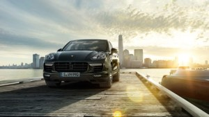New Cayenne Turbo S front