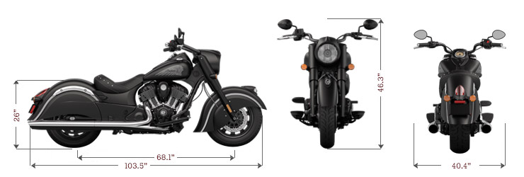 Indian Chief Dark Horse dimensions