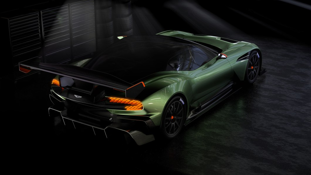Aston Martin Vulcan rear three quarters