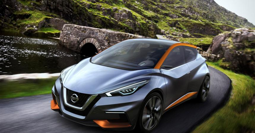 Nissan SWAY Concept on road