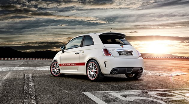 Fiat Abarth 595 Left Rear Three Quarters