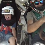 Father drifts with little son : Video of the Day