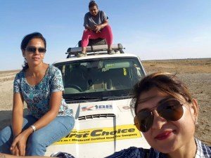 The trio with their Mahindra Scorpio