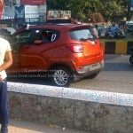 Mahindra XUV100 (S101) spotted undisguised during TVC shooting