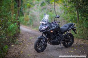 2016 Kawasaki Versys 650 India in the forest