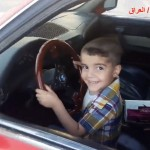 3 Year Old Iraqi Boy does Donuts in a BMW