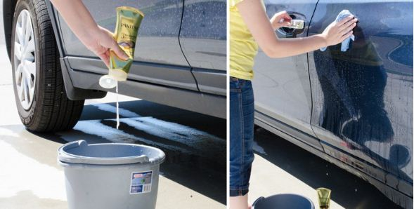 Car cleaning with Hair Conditioner