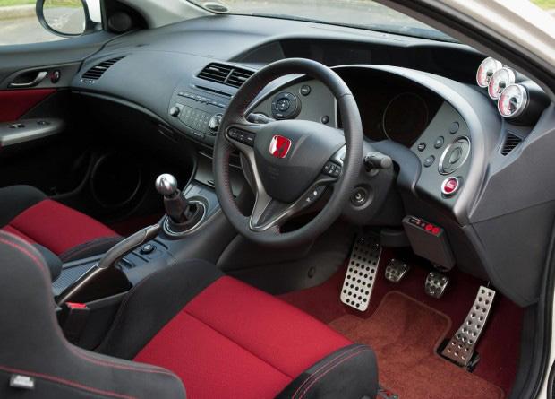Interior do Honda Civic Hatch Type R europeu customizado de fábrica