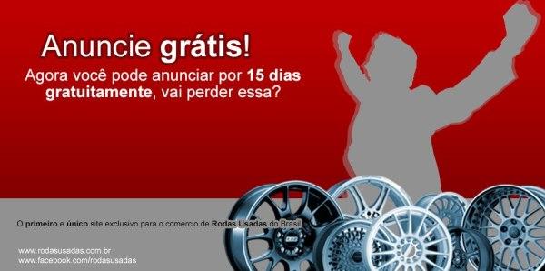 Anúncio Grátis Rodas Usadas - Promoção - 15 dias